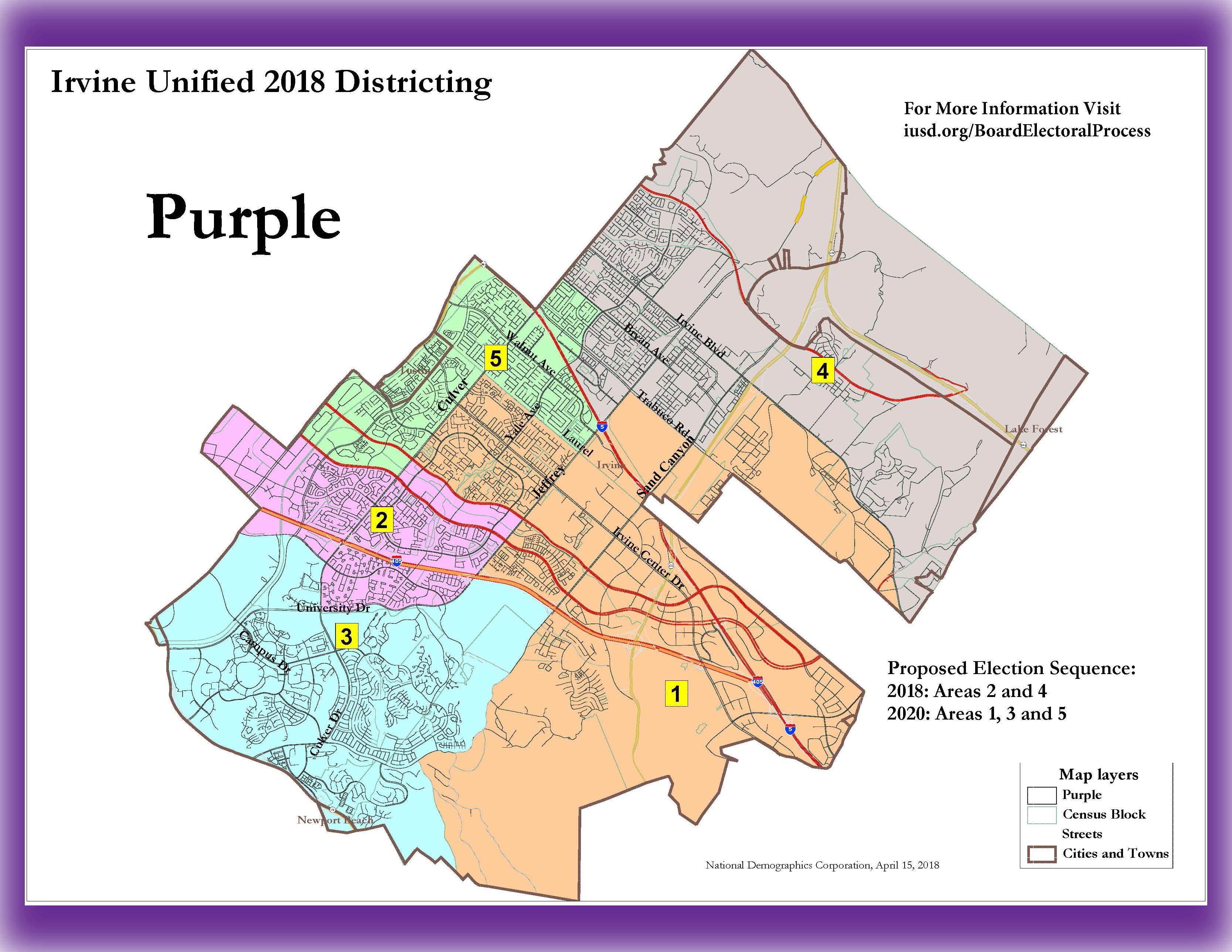 Purple Trustee Area Map