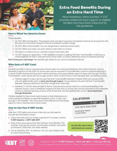 P-EBT 2.0 Flyer