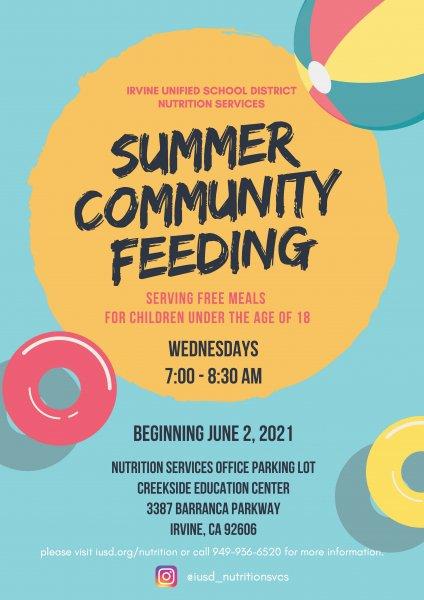 Summer Feeding Poster 2021