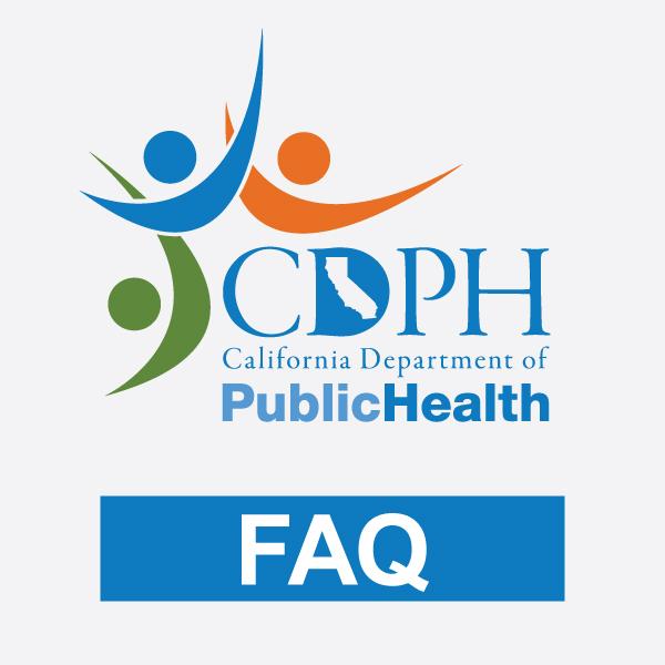 California Department of Public Health Logo FAQ