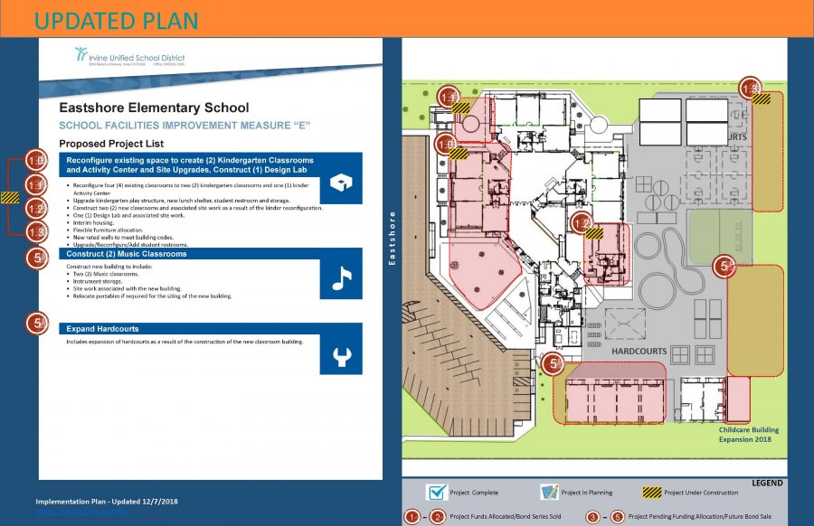 Revised Eastshore ES Measure E Site Plan