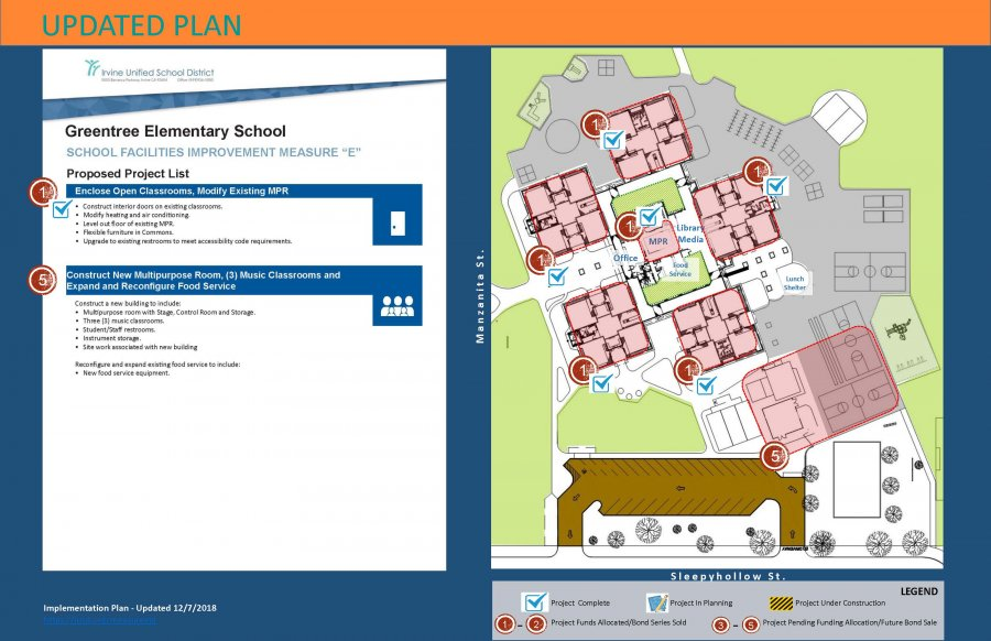 Revised Greentree ES Measure E Site Plan
