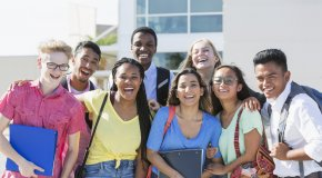IUSD Ranked A Best School District Happy High School Students