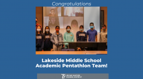 Lakeside Middle School Takes Silver Medal at U.S. Academic Pentathlon Competition