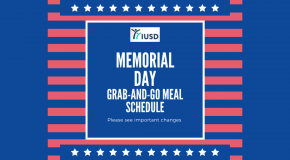 IUSD Memorial Day Grab-and-Go Meal Schedule