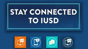 Stay Connected to IUSD graphic