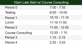 10:00am Late Start with Course Consulting Bell Schedule