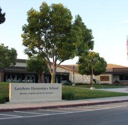 front of Eastshore school