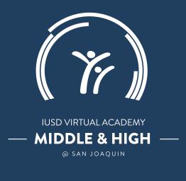 IUSD Virtual Academy Middle and High Logo