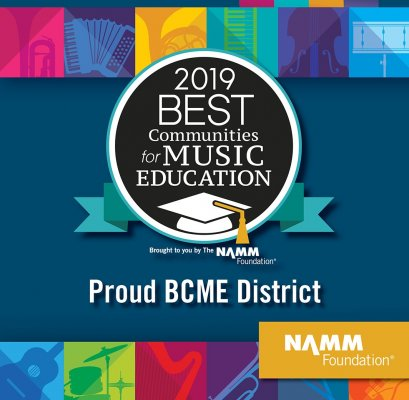 IUSD Named a 2019 Best Community for Music Education. Namm Logo