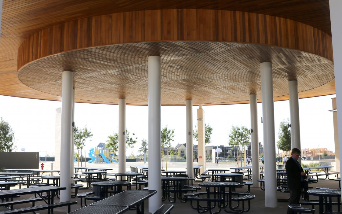 Cadence Park Dedication Tour of Lunch Area
