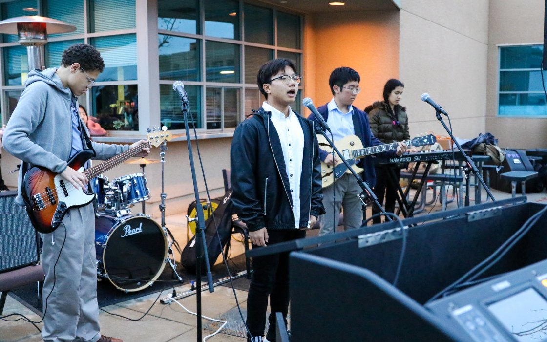 student band playing