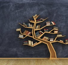 books in tree