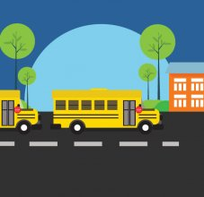 buses and school