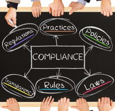 chalkboard image of compliance and regulations