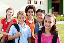 Photo of middle school students