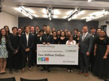 Irvine Company Check Presentation at IUSD Board Meeting