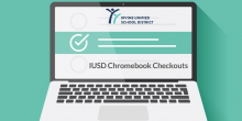 IUSD Chromebook Checkouts Graphic