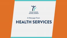 Message from Health Services