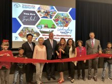 Westpark Elementary Measure E Ribbon Cutting