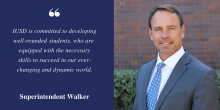 Image of Supt. Terry Walker with a quote about student success