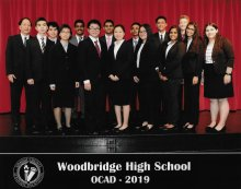 Woodbridge Academic Decathlon 2019 Team