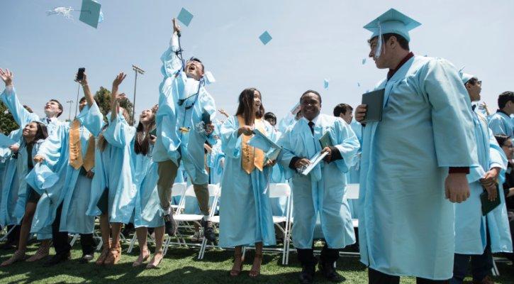 Irvine High School Students celebrating graduation