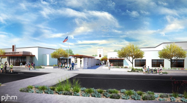 Cadence Park front of the school rendering