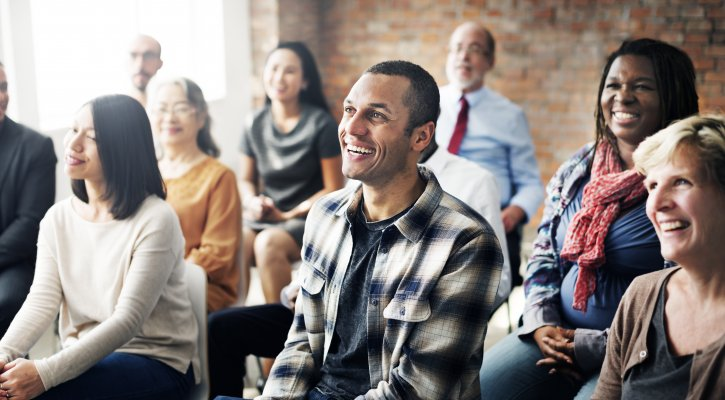 Image of parents at a meeting