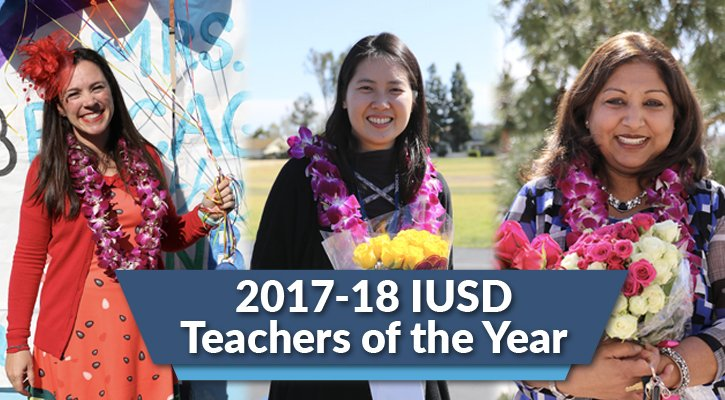 IUSD teachers of the year 2018