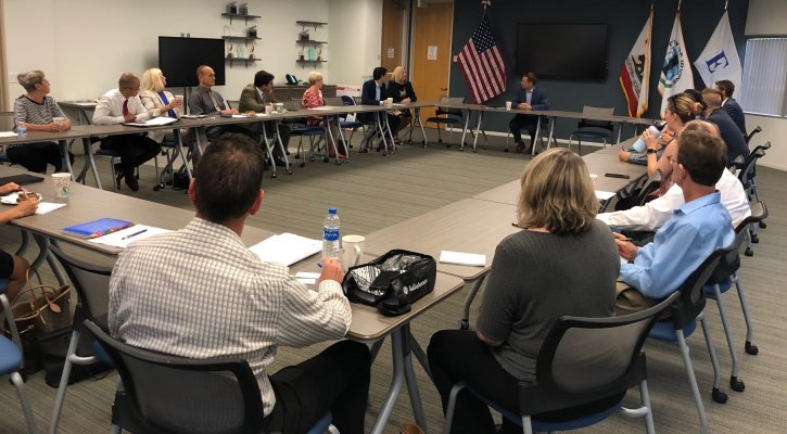 Superintendent Walker at Irvine Chamber Government Affairs Meeting
