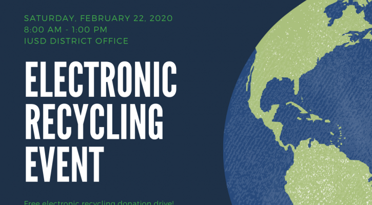 IUSD Electronics Recycling Event Flier