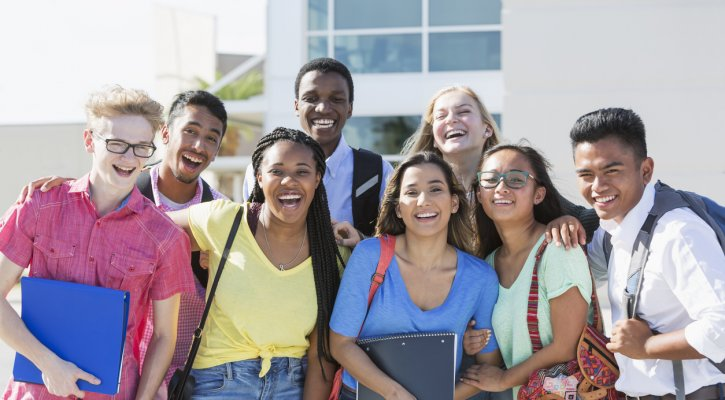 IUSD Ranked A Best School District Happy High School Students