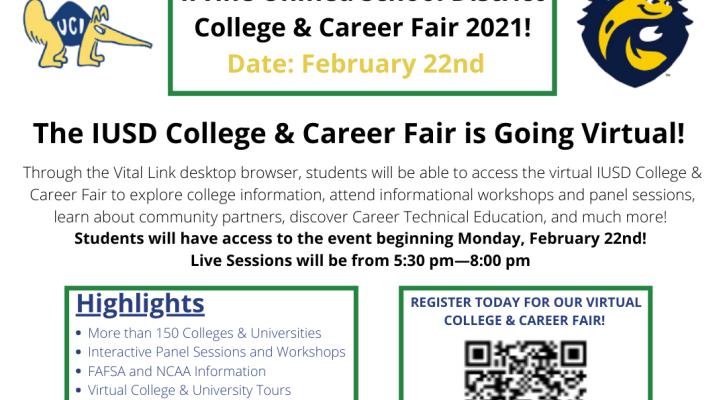 IUSD College and Career Fair Feb. 22