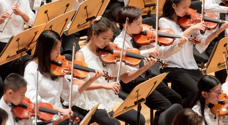 Students performing at Bren Honors Concert