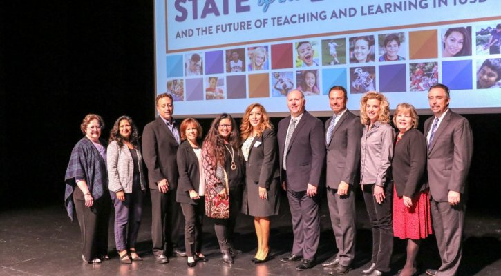 IUSD Leadership on Stage